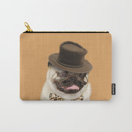 Dog pug with hat Carry-All Pouch