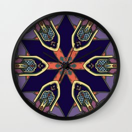 Gothic Revival Reimagined in Purple Wall Clock