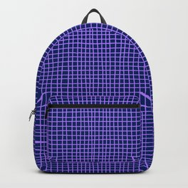 Purple Grid Backpack
