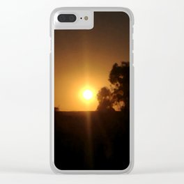 Sunset Inclusion Clear iPhone Case