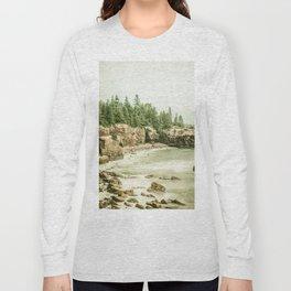 Acadia National Park Maine Rocky Beach Long Sleeve T-shirt