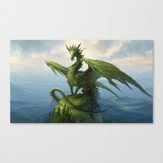 Green Dragon v2 Canvas Print