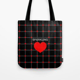 Sparkling Heart Tote Bag