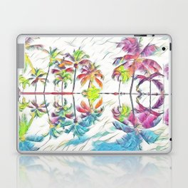 Rainbow Pastel Palm Trees Laptop & iPad Skin