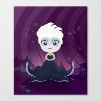 ursula Canvas Prints featuring Ursula  by Loud & Quiet