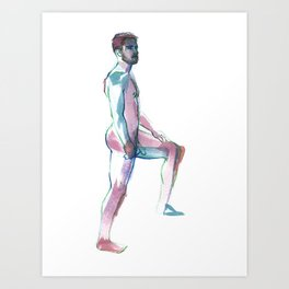 MATT, Nude Male by Frank-Joseph Art Print