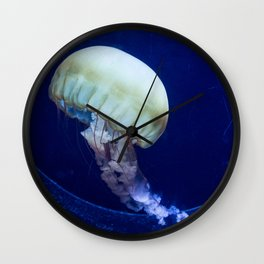 Jellyfish swimming Wall Clock