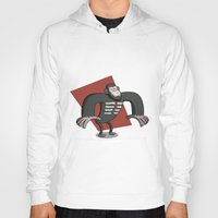 planet of the apes Hoodies featuring Caesar - Dawn of the Planet of the Apes Cartoon by Aaron Lecours