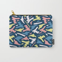 Memphis Style Camouflage Shapes Seamless Vector Pattern, Drawn Carry-All Pouch