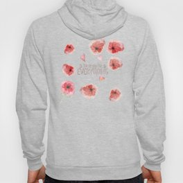 Thank you for everything- Vintage  Flowers Roses floral Illustration Hoody