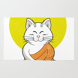 Cat Buddha Master Vintage Rug