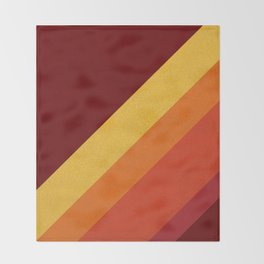 Retro 70s Color Palette II Throw Blanket
