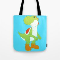 yoshi Tote Bags featuring Yoshi by bloozen