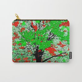 TREE RED AND GREEN LEAF Carry-All Pouch