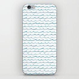 watercolor waves iPhone Skin