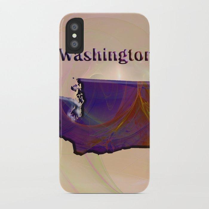 Washington Map iPhone Case