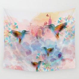 Digital fantasy hummingbird Wall Tapestry