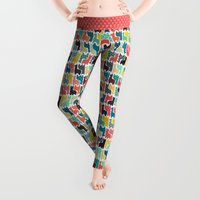 baby Leggings featuring baby llamas by Sharon Turner