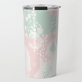 Alexei - abstract minimal modern painting splash dots stripes painterly art Travel Mug
