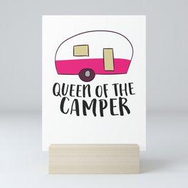 Camping Queen Of The Camper RV Camper Mom Camper Queen Mini Art Print