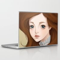 doll Laptop & iPad Skins featuring Doll by Lily Art