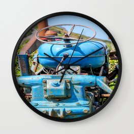 Port Gaverne - Old Blue Tractor Wall Clock