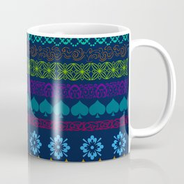 Mountain Midnight Folk Art Coffee Mug