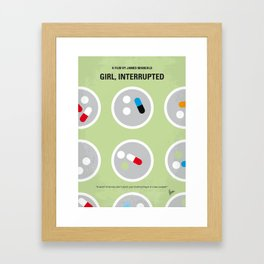 No564 My Girl Interrupted minimal movie poster Framed Art Print