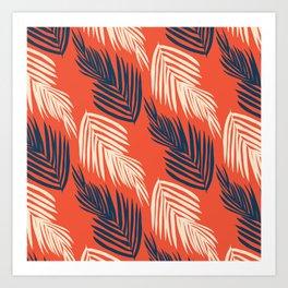 Orange Palms Art Print