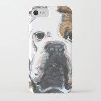 english bulldog iPhone & iPod Cases featuring English Bulldog  by ali_grace_gal