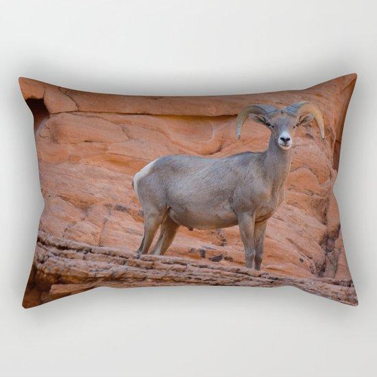 Desert Bighorn - Valley of Fire Rectangular Pillow