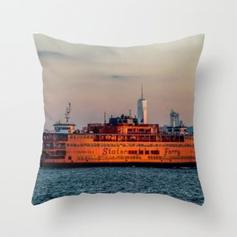 Ferry & The Freedom Tower Throw Pillow