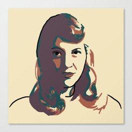 Sylvia Plath Canvas Print