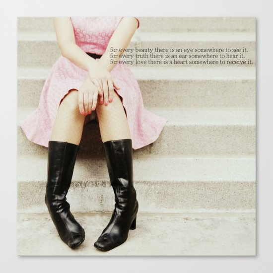 pretty in pink two Canvas Print