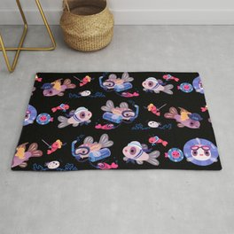 Cory cats on voyage Rug