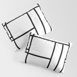 Mondrian linear pattern Pillow Sham