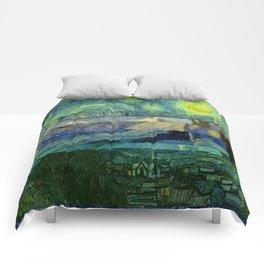 Starry Night Glitch Comforters