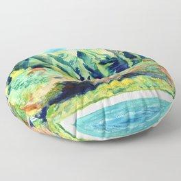 Kauai's Na Pali Coast Floor Pillow
