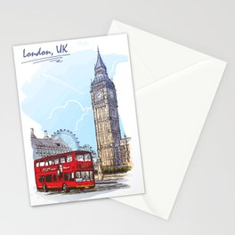 Color Sketch from London 01 Stationery Cards