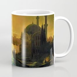 View of Constantinople by Moonlight by Ivan Aivazovsky Coffee Mug