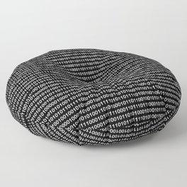 Binary Code Floor Pillow