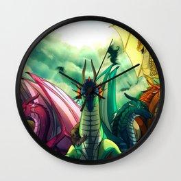 all dragon species Wall Clock