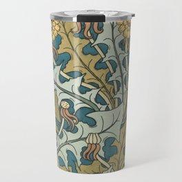Art Nouveau Dandelion Pattern Travel Mug