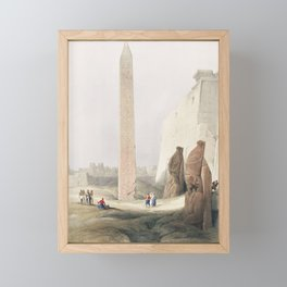 Luxor city on the east bank of the Nile River in southern Egypt illustration by David Roberts (1796– Framed Mini Art Print