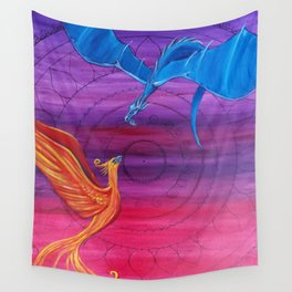 Everlasting Love - Dragon and Phoenix Wall Tapestry