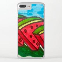 Sandia Slices Clear iPhone Case