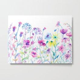 Watercolor Field of Pastel Metal Print