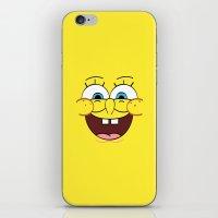 spongebob iPhone & iPod Skins featuring Spongebob 1 by Valerie Hoffmann