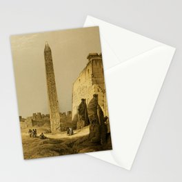 Roberts, David (1796-1864) - The Holy Land 1855, Obelisk of Luxor Stationery Cards