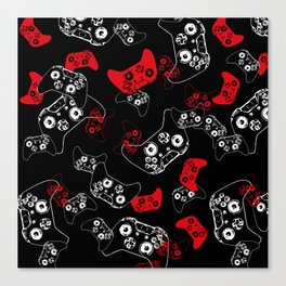 Video Game Red on Black Canvas Print